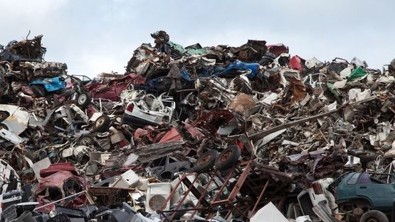 Large amounts of scrap